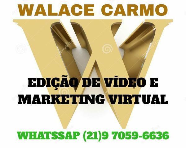 Edição de vídeo e marketing virtual