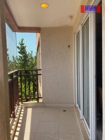 Apartamento com 2 dormitórios para alugar, 72 m² por R$ 2.700,00/mês - Porto das Dunas - A - Foto 17