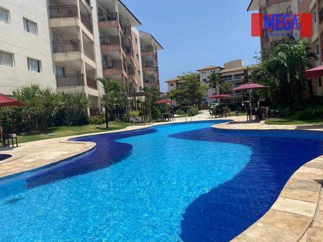 Apartamento com 2 dormitórios para alugar, 72 m² por R$ 2.700,00/mês - Porto das Dunas - A - Foto 3
