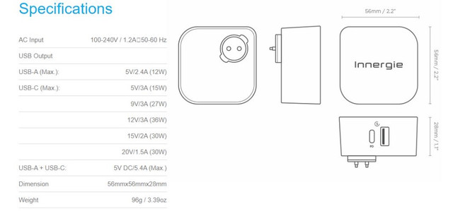 Carregador Portátil Innergie Power Joy 30c -celular/notebook - Foto 3