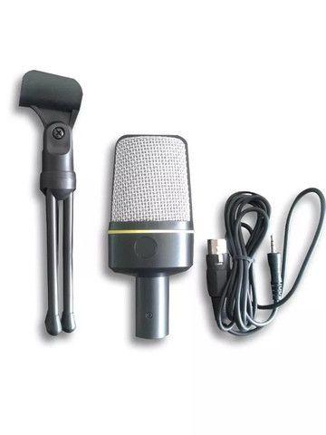 Microfone Condensador Youtuber C/ Suporte Andowl Qy-920 - Foto 3