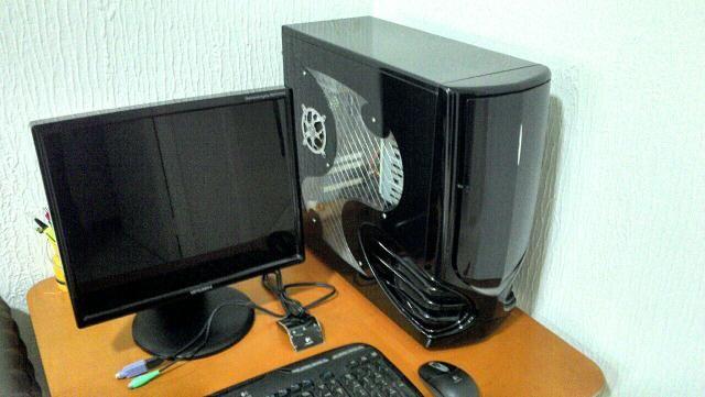 Monitor,mouse e teclado sem fio, gabinete importado,cpu