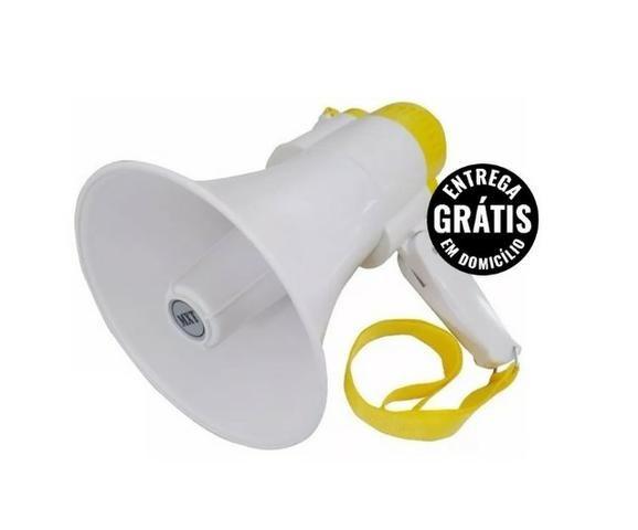 Megafone sirene e alto-falante bivolt bateria recarregável - entrega grátis