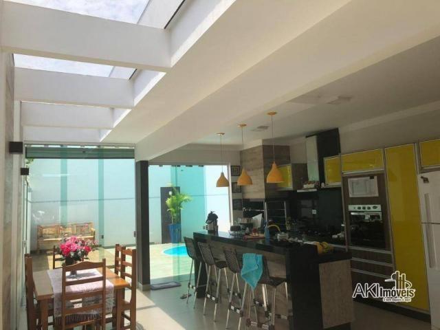 Casa de alto padrão com 3 dormitórios à venda, 198 m² por R$ 600.000 - Residencial Atlânti