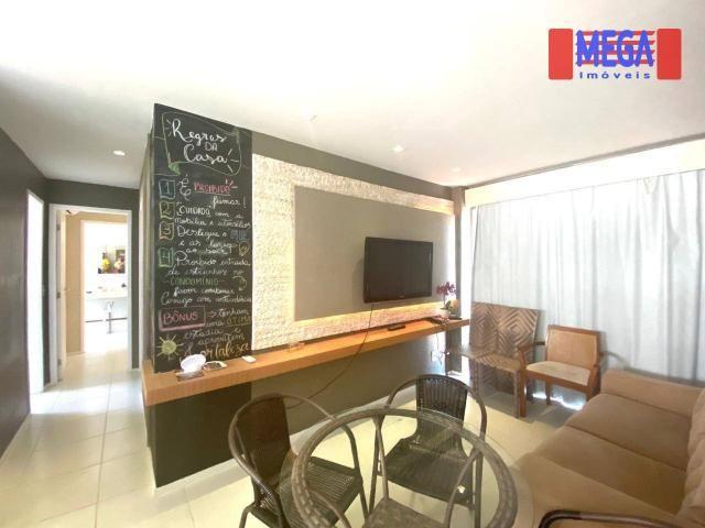 Apartamento com 2 dormitórios para alugar, 72 m² por R$ 2.700,00/mês - Porto das Dunas - A - Foto 9