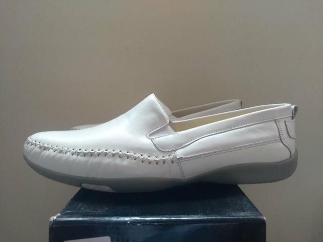 Sapato Branco Tipo Mocassim Branco 43 - Foto 2