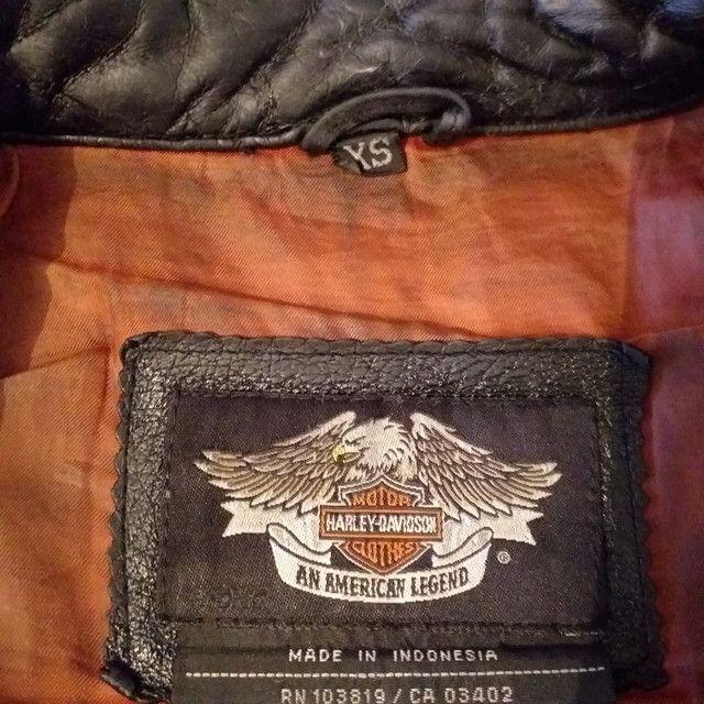 Jaqueta de couro Harley-Davidson feminina XS/PP - Foto 4