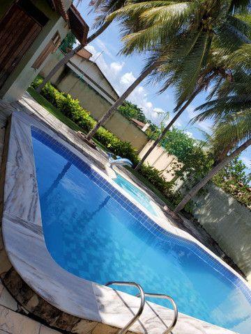 Casa com 5/4, piscina , campo de futebol na barra de São Miguel