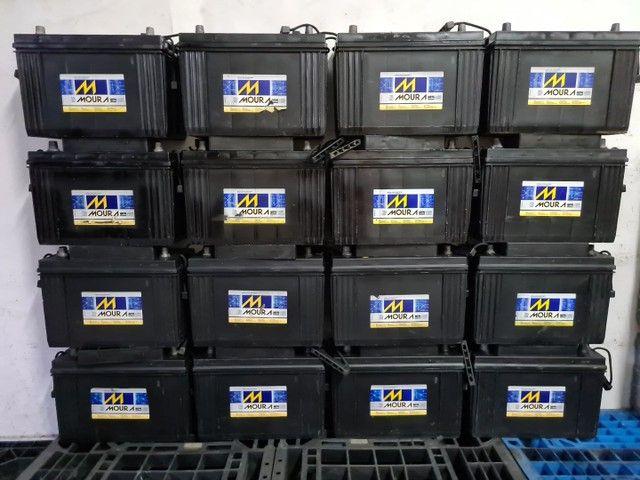 Baterias semi novas de 100ah muito novas.  - Foto 2