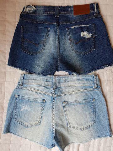 Short jeans. Tam. 38 muito conservado - Foto 2