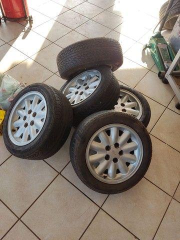 Jogo de rodas Aro 15  original Omega, serve Opala e Caravan