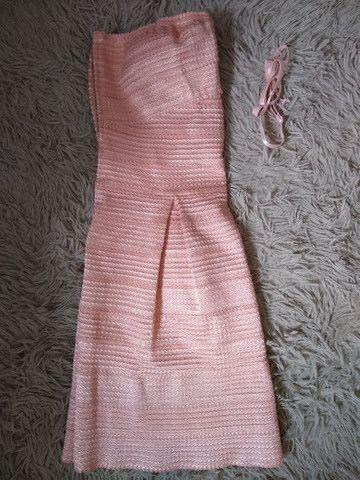Vestido curto Rosé tomara que caia  - Foto 6