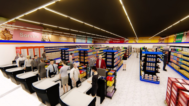 Montagem completa de supermercados, projeto3D e equipamentos - Foto 4