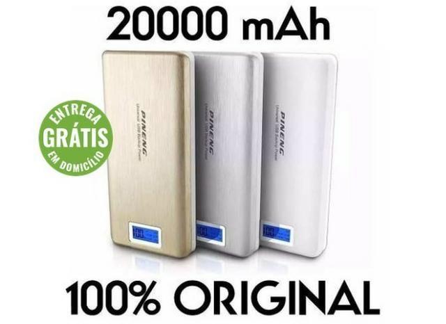 Bateria externa portátil power bank pineng 20000 mah pn-999 - entrega grátis
