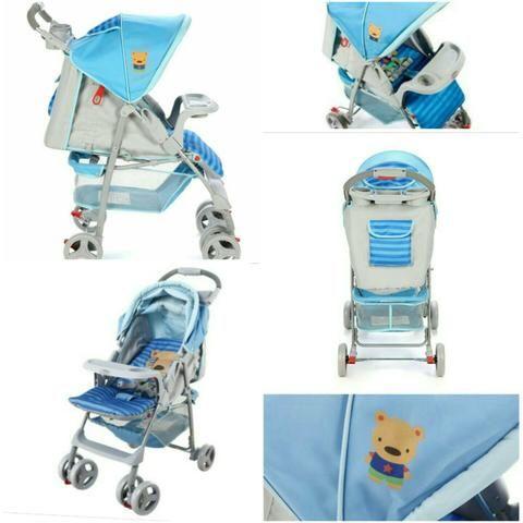 Carrinho de bebê voyage azul
