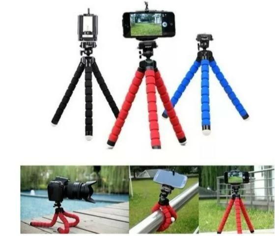 Tripé para celular ideal para fazer videos e flexível