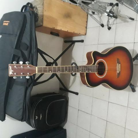 Bateria Drums e violão tagima elétrico