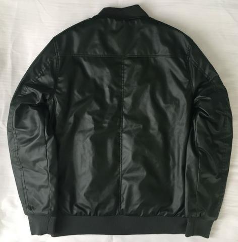 Jaqueta de Couro Masculina Dixie Cor Verde Sem Capuz Produto Novo Com Excelente Qualidade - Foto 2