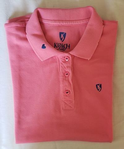 Camisa infantil rosa Kitsch Kids tamanho 6