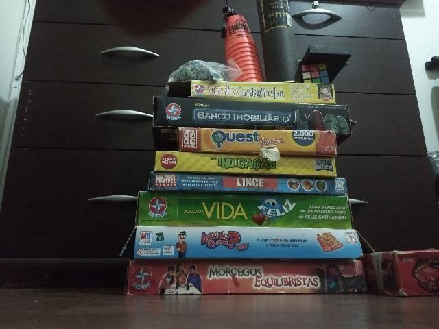 Jogos, lego e quebra cabeça