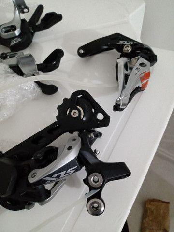 Vendo grupo Shimano slx 2x11 completo menos freio - Foto 4