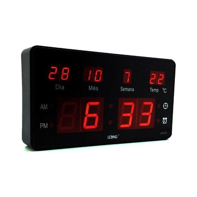 Relógio De Parede Digital Lelong Le2114 -Entregamos via Motoboy