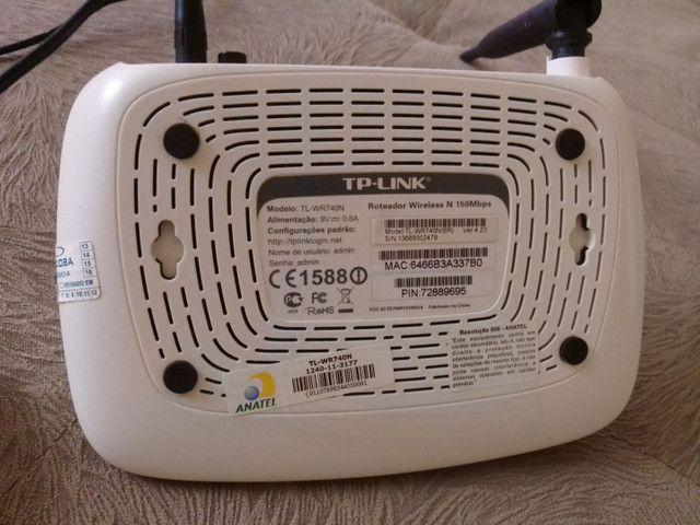 Roteador TP-LINK  wireless N 150Mbps. modeloTL-WR740N - Foto 2