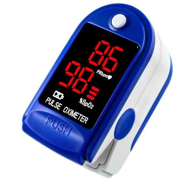 Oxímetro Medidor De Saturação e Frequência Cardíaca + 2 Pilhas AAA - Foto 5