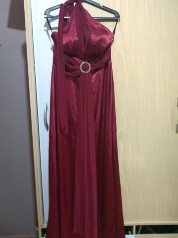 2 vestidos de festa por 100,00 Marsala e azul Bic