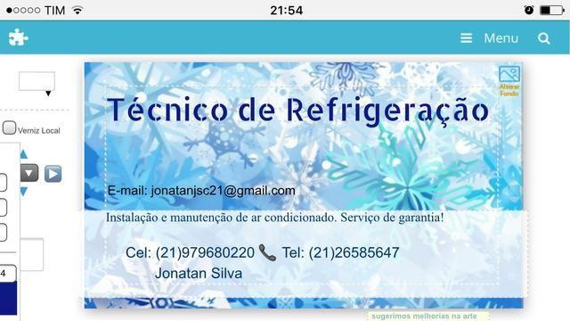 Faço serviço de refrigeração. Instalação de ar-condicionado e manutenção .