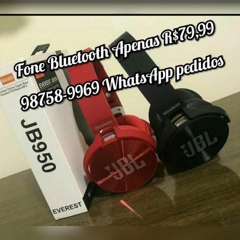 Fone Bluetooth Marca JBL, R$80,00 a vista ou 84,99 em 2x no Cartão