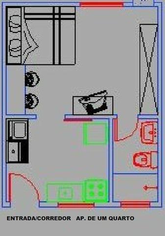 Apto.de um Quarto,Banheiro,Cozinha, Area de lazer.1.700,00 R$, - Foto 2