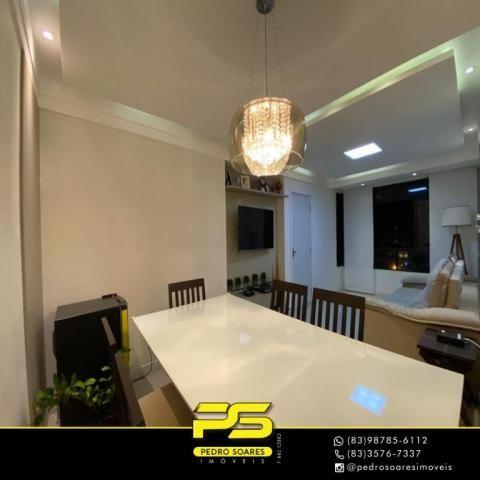 Apartamento com 3 dormitórios à venda, 118 m² por R$ 460.000 - Manaíra - João Pessoa/PB - Foto 3