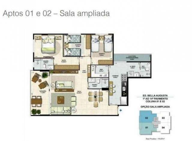 Bella Augusta Residence - Apartamento de 3 ou 4 quartos com suíte - Cariacica, ES - Foto 17