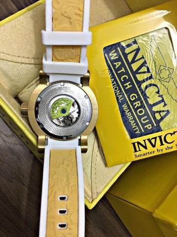f006a559585 Relógio Invicta 19546 Yakuza S1 Automatico Branco Original