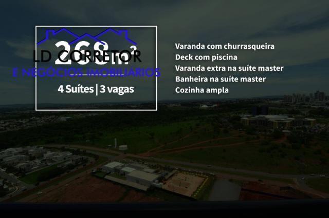 Apartamento à venda com 4 dormitórios em Park lozandes, Goiânia cod:COBEURO268 - Foto 2