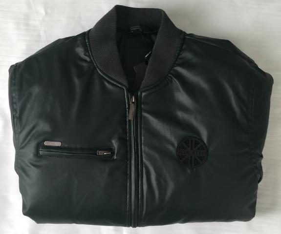 Jaqueta de Couro Masculina Dixie Cor Verde Sem Capuz Produto Novo Com Excelente Qualidade - Foto 3