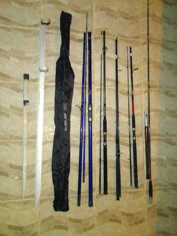 Material de pesca usado só 2 vezes - Foto 2
