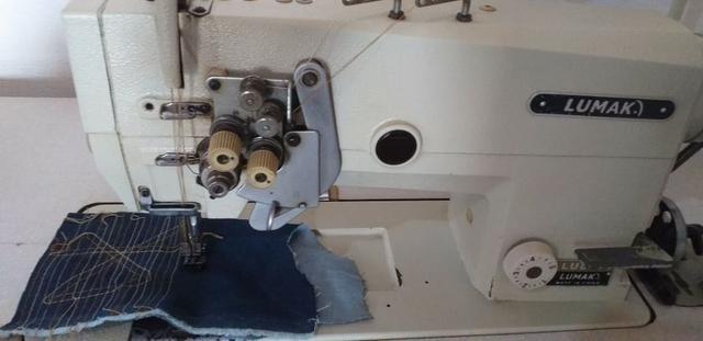 Máquina 2 agulhas com desligamento
