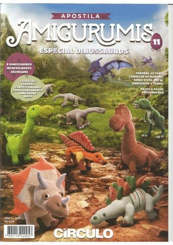 Tricôs e Frescuras - Tricô e Crochê para Bebês: Amigurumi em Tricô -  Osvaldo, o Estegossauro   480x339