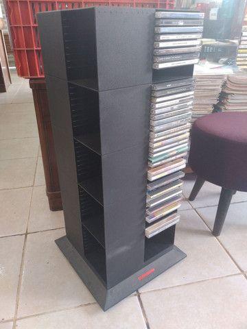 Porta cds rack plástico usado bom estado