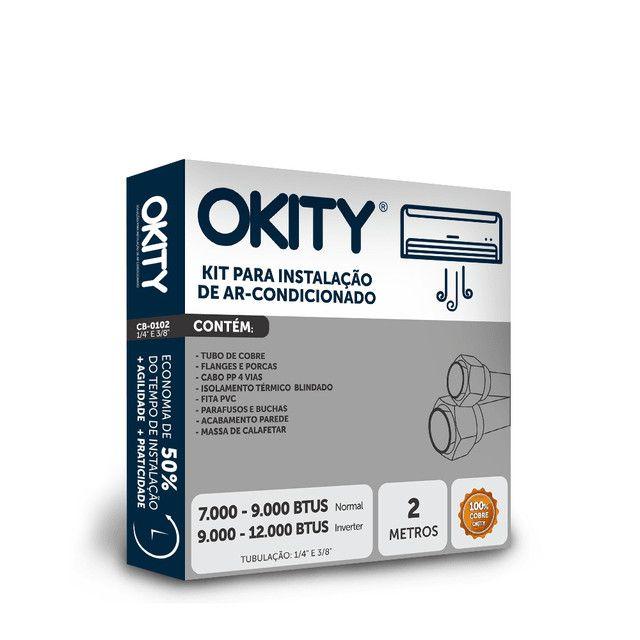 Kit Instalação Ar Condicionado 7/9.000 Btus 2 mt - S/ Suporte