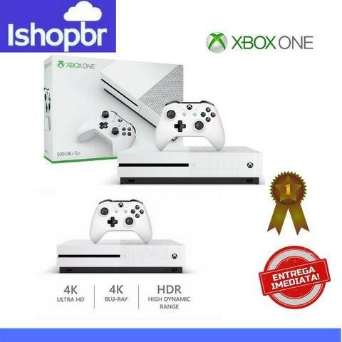 Xbox One S 500gb 4K HDR só hoje