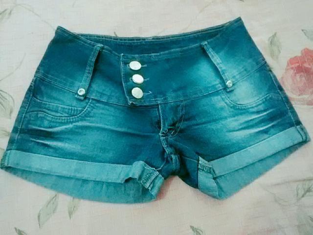 Bermuda jeans 38 e Blusa verde M