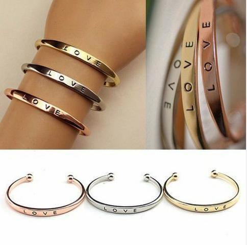 Bracelete Aço Inox Love
