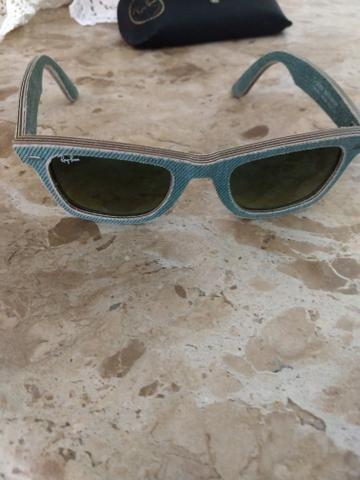 Óculos Ray Ban Wayfarer Jeans lente degradê Original