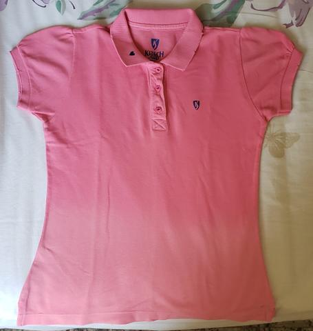 Camisa infantil rosa Kitsch Kids tamanho 6 - Foto 3