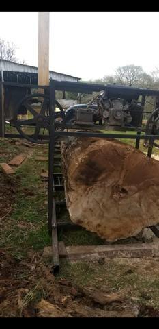 Serra tora 1m , trilho 6m, motor 17hp PE, engenho, serraria portátil - Foto 6