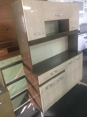 Armario kit cozinha 120 de 7 portas e 1 gaveta - Foto 3