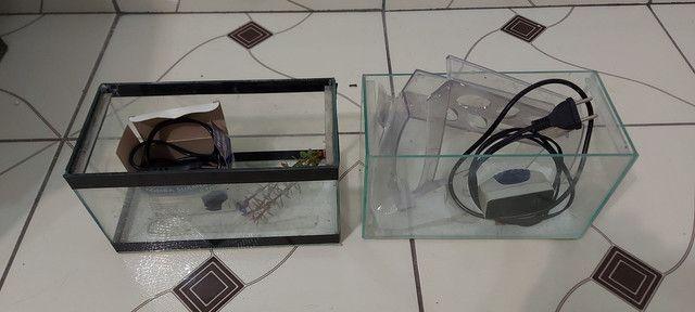 Aquario 100 litros com móvel e filtro canister - Foto 5